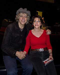 Posing for photo with Bob Geldof