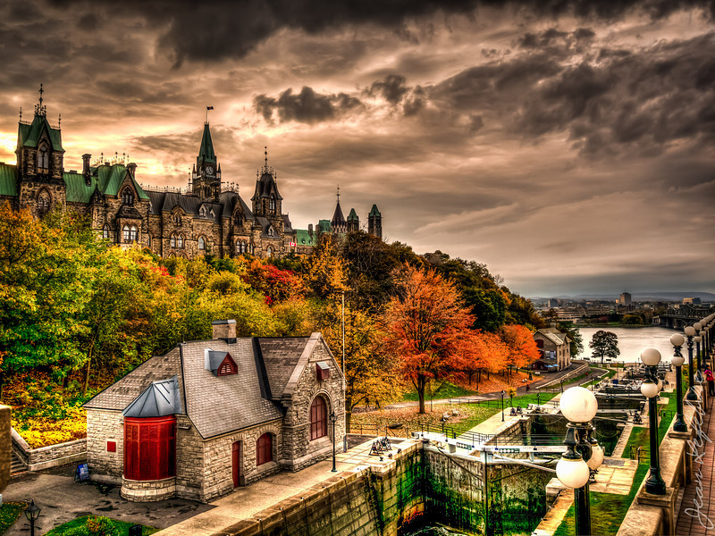 View of Parliament Hill in Ottawa