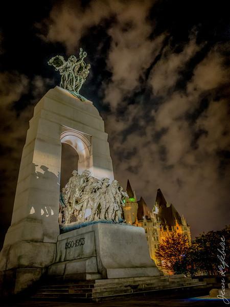 Memorial to fallen soldiers in Ottawa