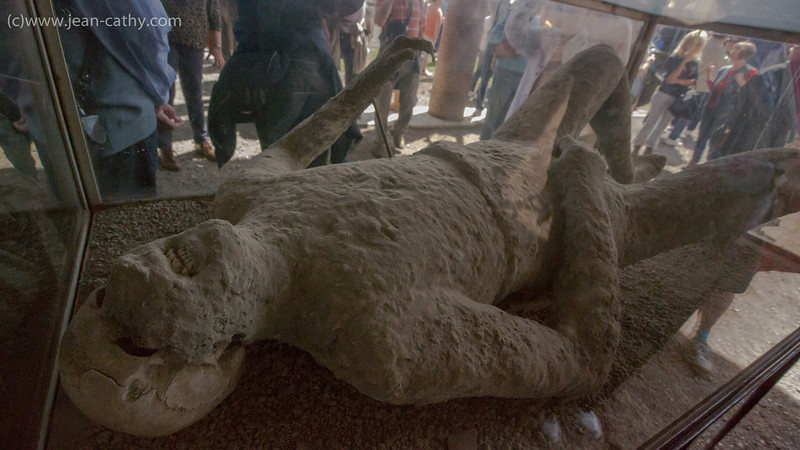 Cast of victim of Pompeii eruption