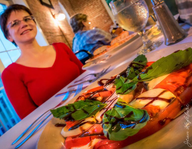 Tomato and bocconcini appetizer at Mura Bella's