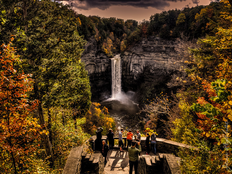 Overland view of falls in Finger Lakes